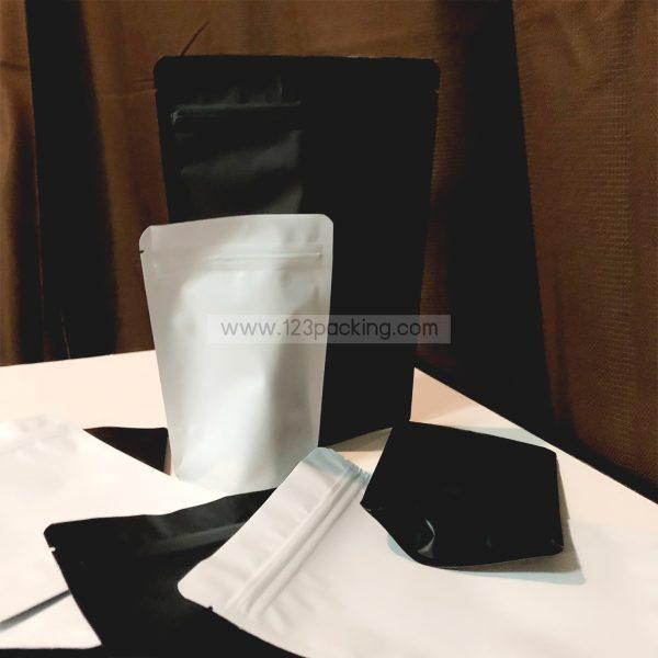 ถุงซิปล็อค สีขาว ถุงฟอยด์ ตั้งได้