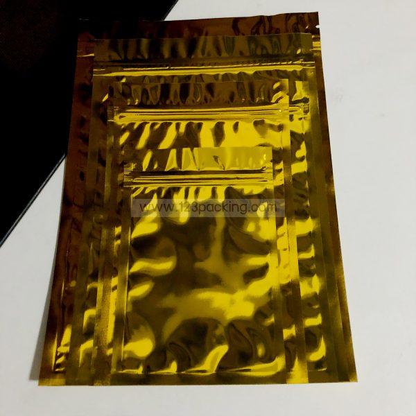 ถุงฟอยด์ทึบ สีทองเงา ตั้งไม่ได้