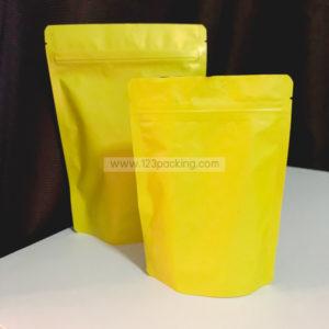 ถุงซิปล็อค สีเหลือง ตั้งได้