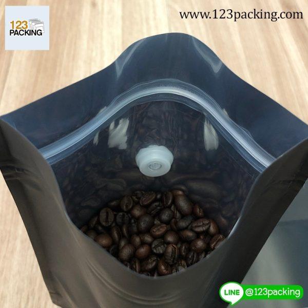 ถุงกาแฟ มีวาล์ว สีดำ